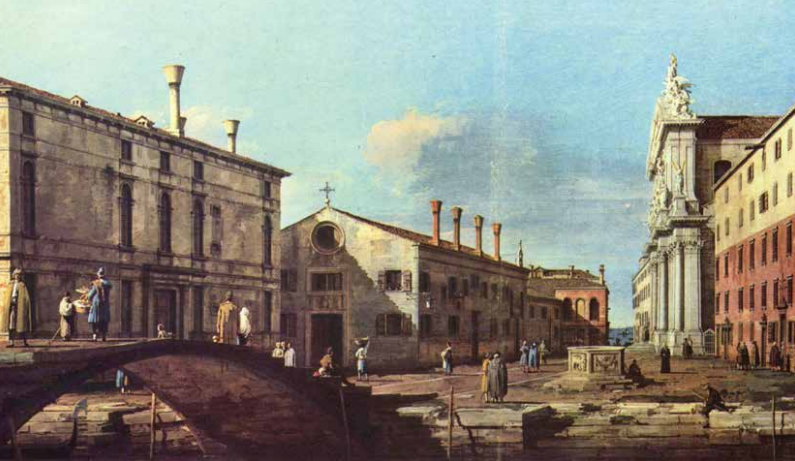 Canaletto - Il Campo e la Chiesa dei Gesuiti