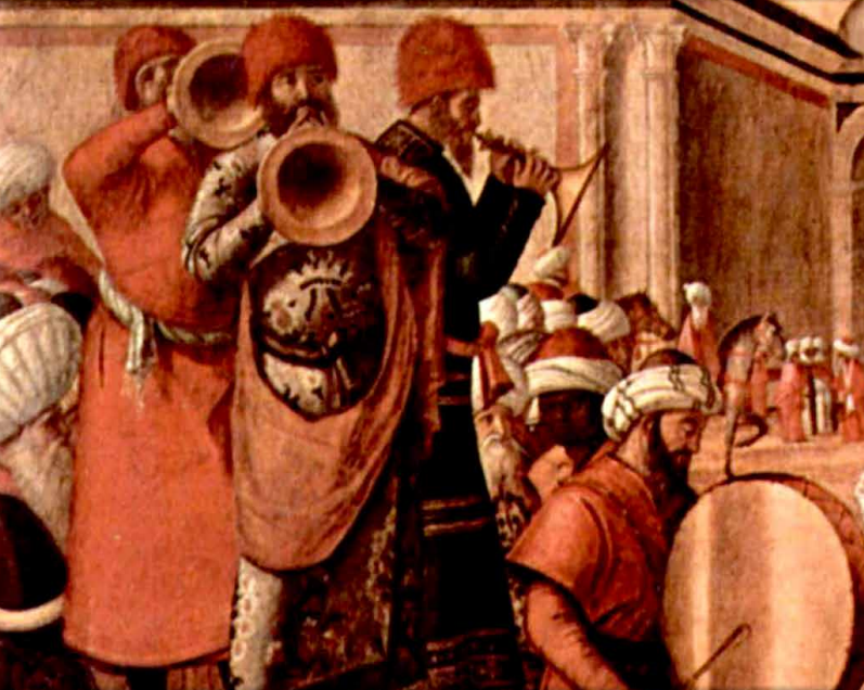 Detail from the The Baptism of the Selenites (1507?) by Vittore Carpaccio